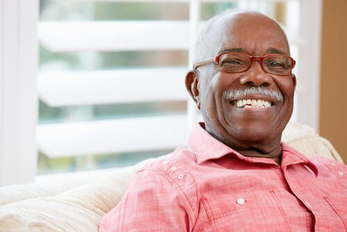 African American male with dentures