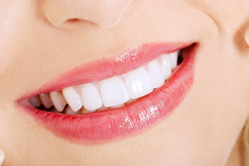up-close shot of white teeth